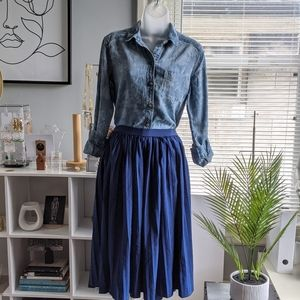 Ultra Flirt Skirts - Blue Pleated Skirt